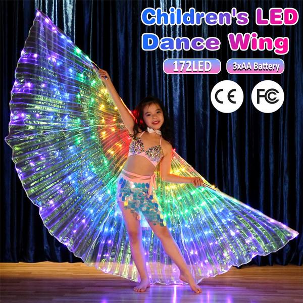 butterfly, dancewear, led, clubcostume