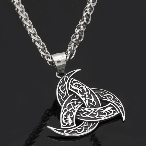 necklaces for men, punk necklace, celticknotnecklace, Men