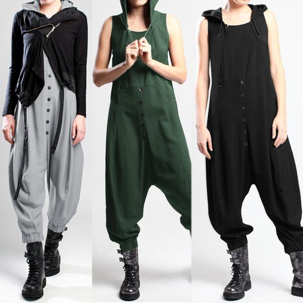 jumpsuitforwork, Women Pants, hooded, Necks