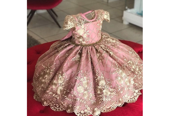 Girls Lace Bowknot Princess Wedding Performance Formal Tutu Dress Clothes Lotx1