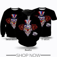 Fashion, clown, T Shirts, Women Clothing