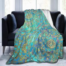 Fleece, bedblanket, sofablanket, gold