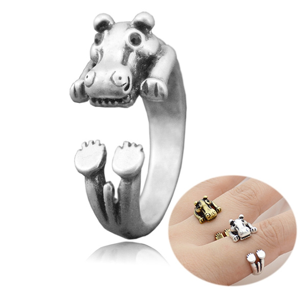 hippo, animalring, Jewelry, Gifts