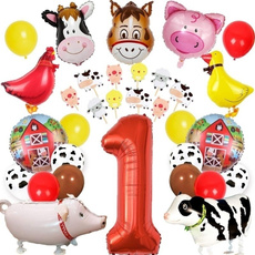 Carnival, caketopper, Balloon, farmanimal