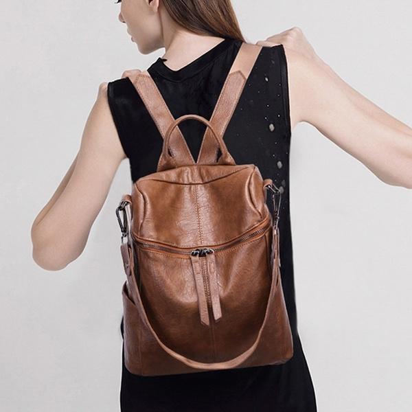 Shoulder Bags, black backpack, zipperbackpack, School Backpack