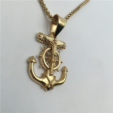 goldplated, necklaces for men, gold, religiousnecklace