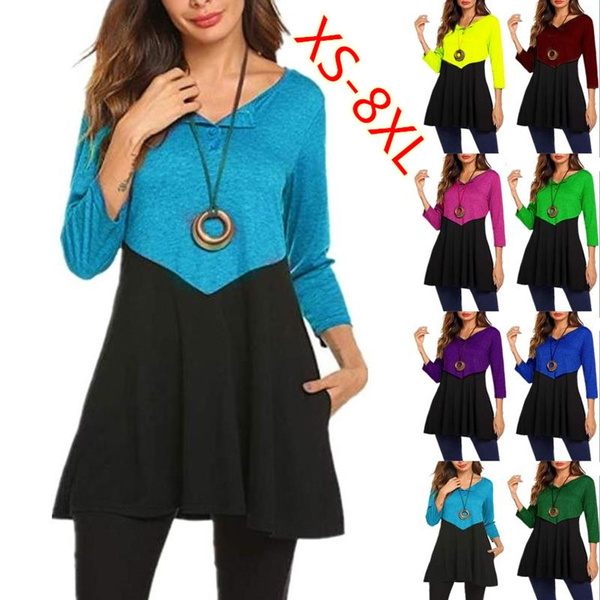 Tops & Tees, Plus Size, Long Sleeve, tunic