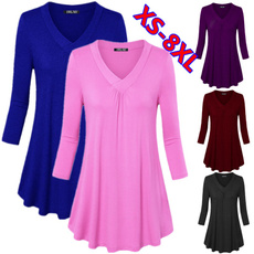 Tops & Tees, Plus size top, Cotton T Shirt, long sleeved shirt