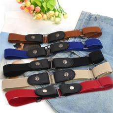 bucklefreewaistbelt, Fashion, elastic belt, Elastic