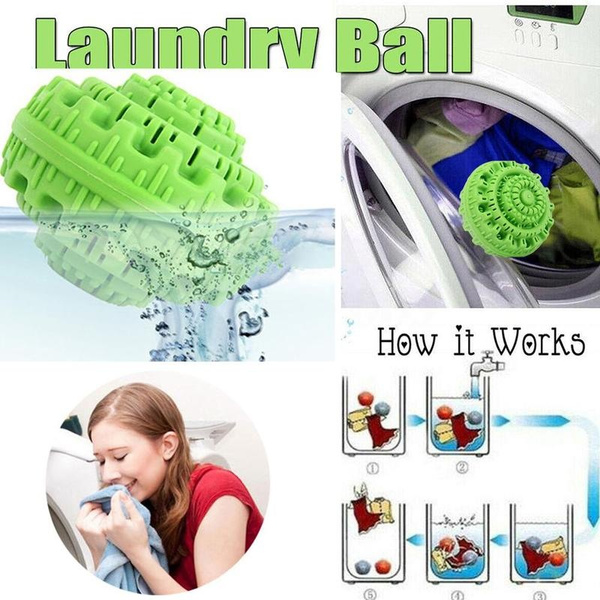 Laundry Cleaning Ball Washing Machine Wash REUSABLE Washzilla Anion Molecules