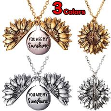 Gifts, Sunflowers, flower necklace, youaremysunshine