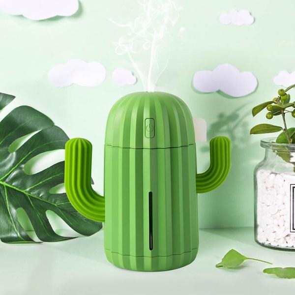 Mini, cactushumidifier, Cotton, usb