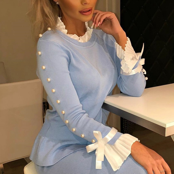 blouse, bowknot, Fashion, knitted sweater