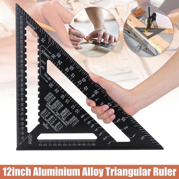 metricruler, measuringdevicestool, triangleruler, Aluminum