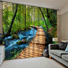 bedroomcurtain, foresttreewindowcurtain, Decoración, Decoración de hogar