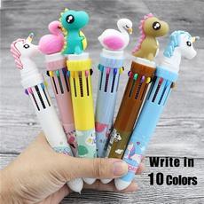 ballpoint pen, Kawaii, flamingo, Office