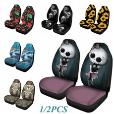 carseatcover, Sunflowers, skull, Cars