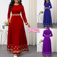 Swing dress, pleated dress, long sleeve dress, Sleeve