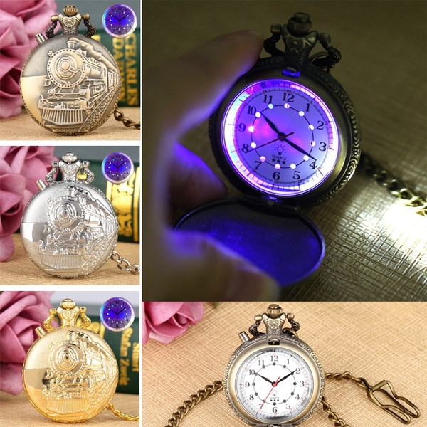 noctilucentledpocketwatch, quartz, led, luminouspocketwatch