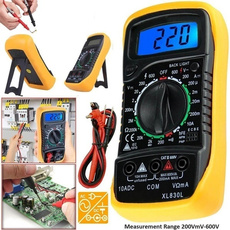 volttester, digitalmultimeter, digitalammeter, lcd