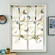 butterfly, Door, Home Decor, kitchencurtain