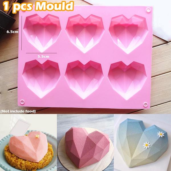 Heart, cakecookiemold, siliconemould, cakebakewaretool