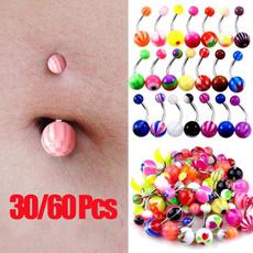 Steel, navel rings, Jewelry, Colorful