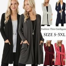Casual Jackets, cardigan, Women, Sleeve