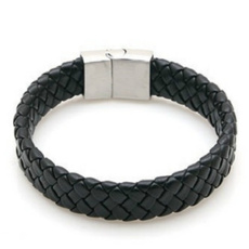 black bracelet, Steel, Fashion, Jewelry