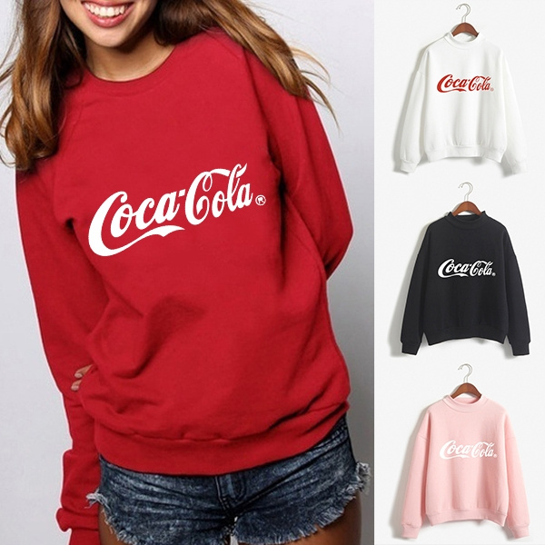cocacolaprinted, hoodies for women, Winter, cokewomenshoodie
