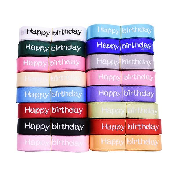 birthdaysupplie, packingribbon, Polyester, letterribbon