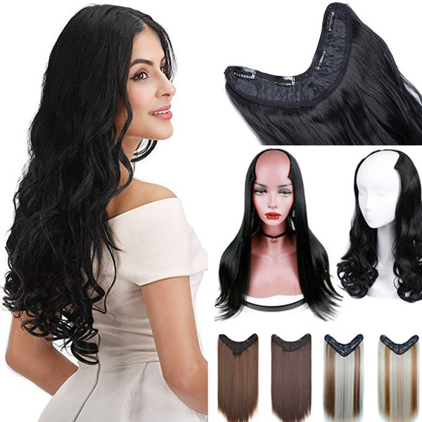 ponytailextension, Hairpieces, clip in hair extensions, Straight Hair