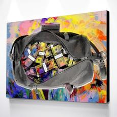 Decor, art, Colorful, moneyposter