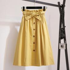 Summer, Fashion, Spring, high waist skirt