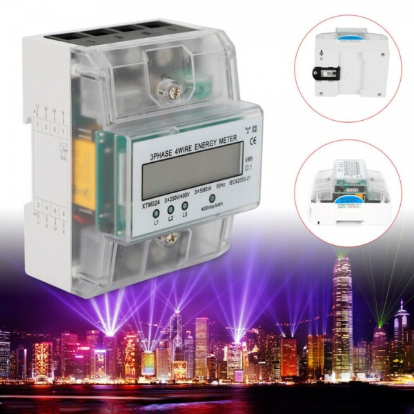 lcdmeter, Electric, 3phase4wireenergymeter, 3phaseenergymeter