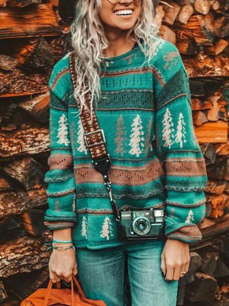 Plus Size, Christmas, Long Sleeve, Sweaters