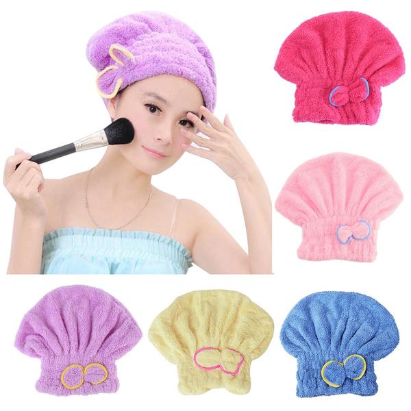 cute, Head, haircap, Towels