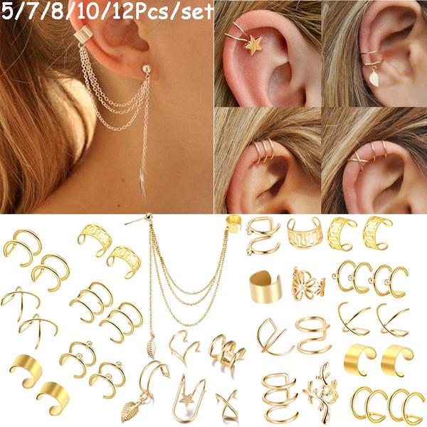 Earring Cuff, Star, punk earring, Simple