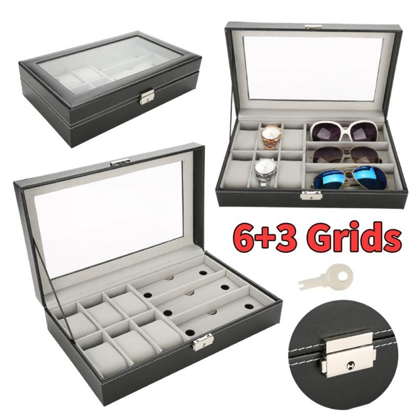 Box, case, glassesstoragebox, leather