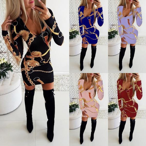 Mini, dress slim, Long Sleeve, Dress