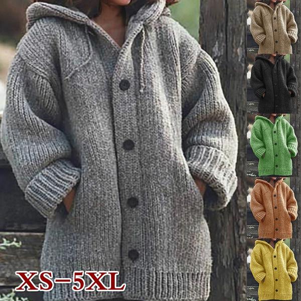 Jacket, hooded sweater, Winter, knit