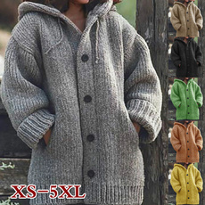 Jacket, hooded sweater, Winter, knit