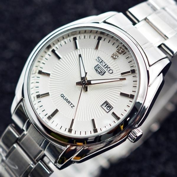 Steel, quartz, business watch, Watch