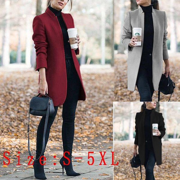 woolenovercoat, Office, Long Sleeve, fur collar
