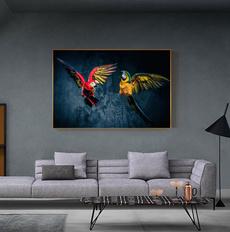 art, parrotoilpainting, Posters, Modern