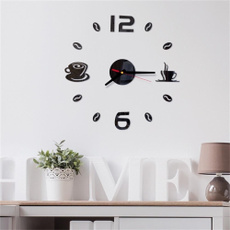 quartz, Decoración de hogar, digitalwallclocksticker, Stickers