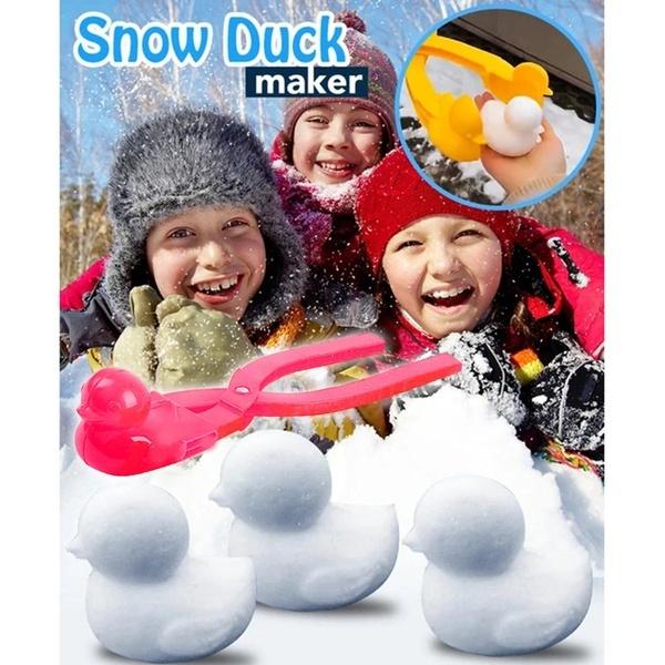 Children Snowball Maker Clip Tool Duck Shaped Winter Snow Sand Mold Outdoor Toys