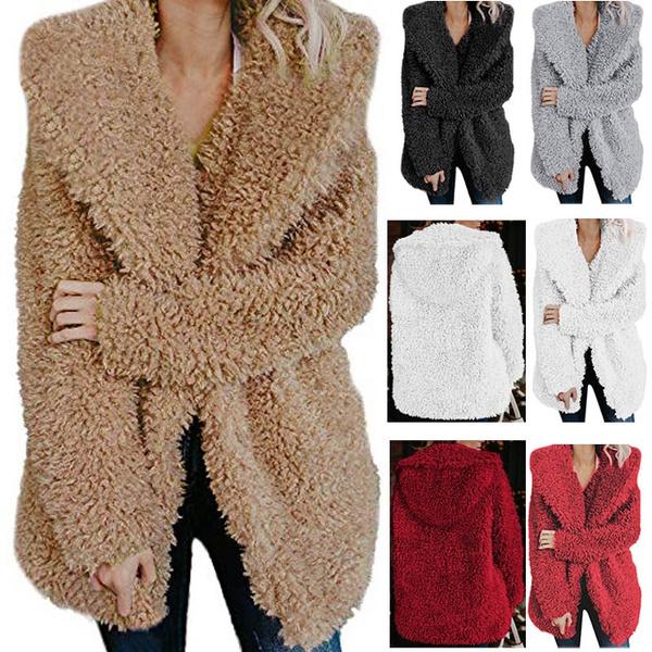 Fashion, fleecejacket, teddyjacket, Long Sleeve