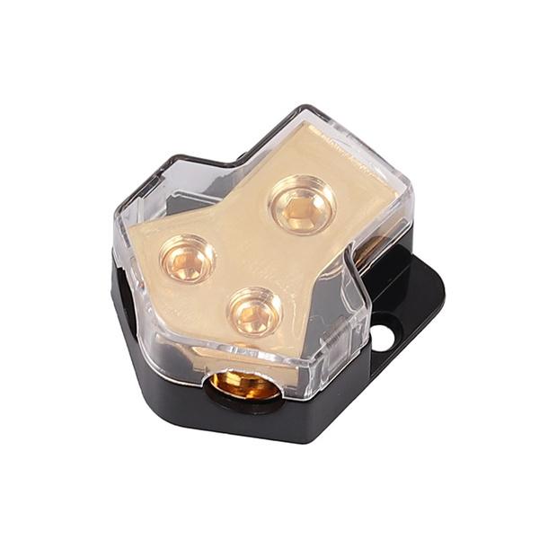 Copper, stereoconverter, distributionblock, cablesplitter