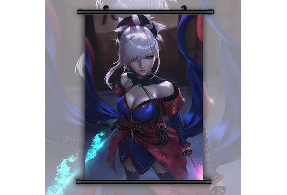 Fate Grand Order Miyamoto Musashi HD Canvas Print Wall Poster Scroll Room Decor